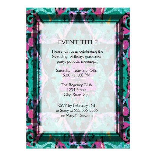 Flower Petal Mandala Design Personalized Invitations