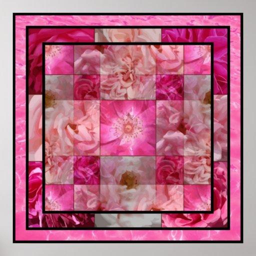 Flower Photo Blocks Poster
