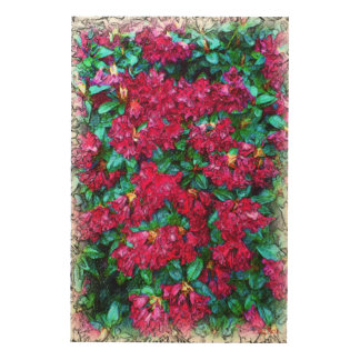 Flower photo painting wood wall art