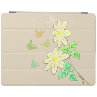 Flower picture mt butterflies iPad cover