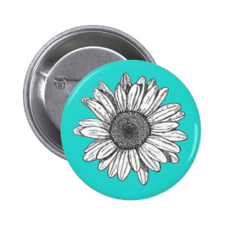 Flower Pin Back Button
