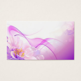 Flower-Pink-Background-Vector-Art DIGITAL REALISM Business Card