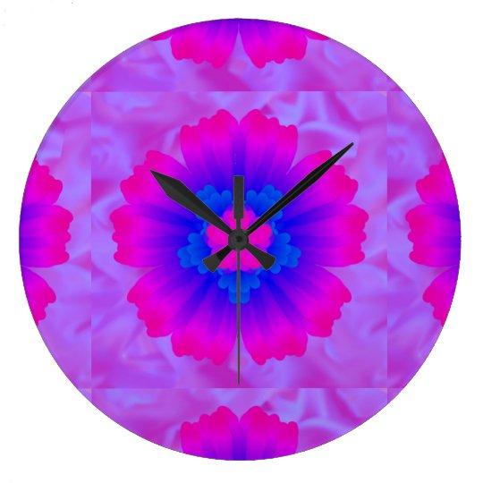 Flower pink blue purple backround art tiled 1