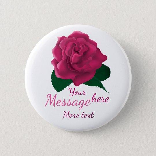 Flower pink custom text button