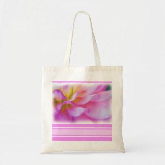 Flower Pink Dahlia Budget Tote Bag