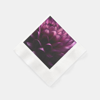 Flower Pink Dahlia Disposable Napkin