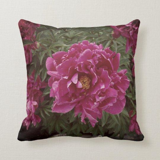 Flower Pink Peony Photo Throw Cushion 41 cm