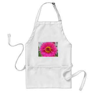 flower,pink state fair zinnia adult apron