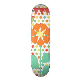 Flower Polka Dots Paisley Spring Whimsical Gifts 20 Cm Skateboard Deck