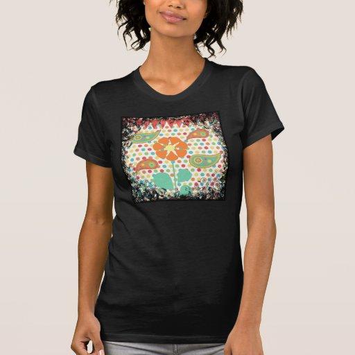 Flower Polka Dots Paisley Spring Whimsical Gifts Tshirt