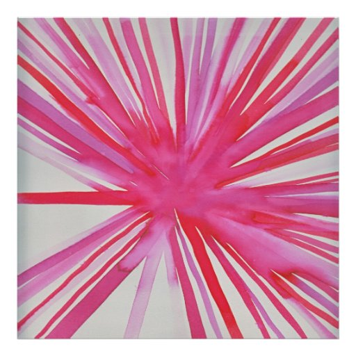 Flower Poster in Pink