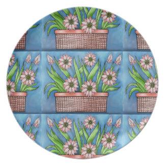 Flower Pot Color Design Plate