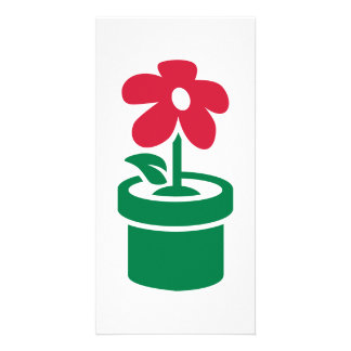 Flower pot personalised photo card