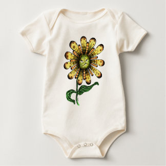 Flower Pouter Baby Bodysuit