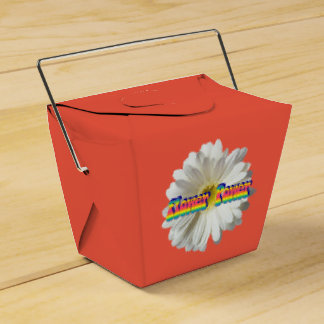 Flower Power 2 Wedding Favour Boxes