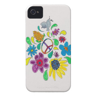 flower power 60 s peace symbols iPhone 4 cover