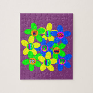 Flower Power 60s-70s 2 Jigsaw Puzzle