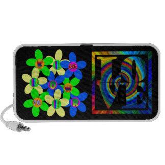 Flower Power 60s-70s retro love iPod Speaker