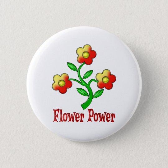Flower Power 6 Cm Round Badge