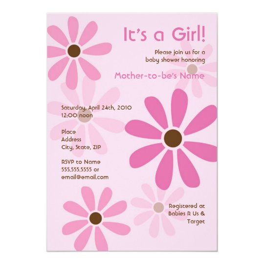 Flower Power Baby Shower or Birthday Invitation