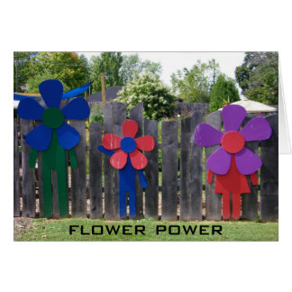 FLOWER POWER BIRTHDAY WISHES GREETING CARD