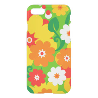 Flower Power blooms wallpaper + your ideas iPhone 7 Case