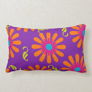 Flower power bright floral pillow