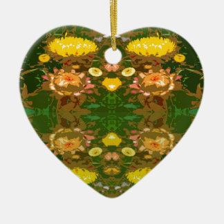 Flower Power Ceramic Heart Decoration