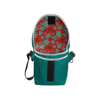 Flower Power Chic Courier Bag