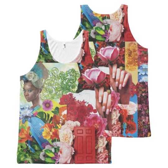 Flower Power Collage All-Over Print Tank Top