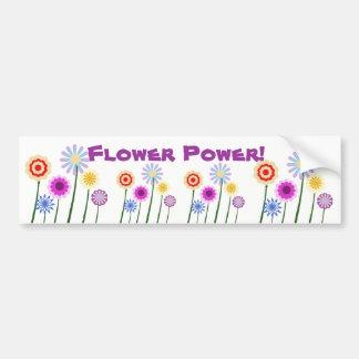 Flower Power, colorful flowers bumper sticker
