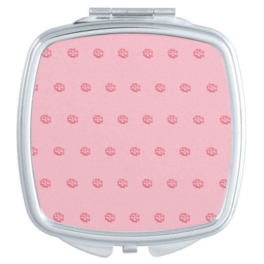 Flower Power Compact Mirror