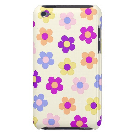 Flower Power Design – Yellow Background Case-Mate iPod Touch Case