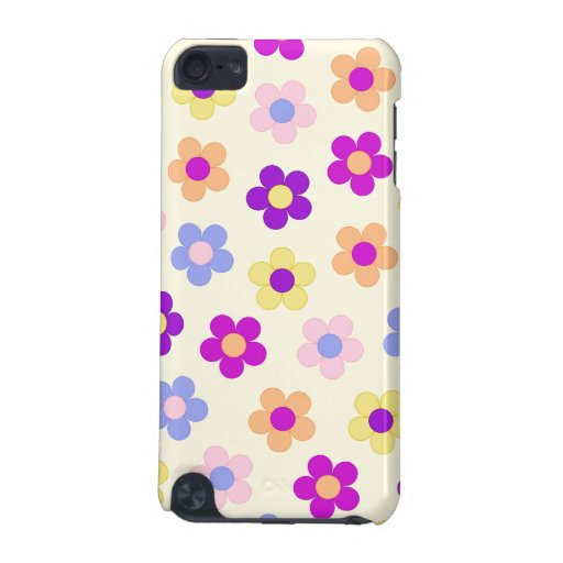 Flower Power Design – Yellow Background iPod Touch 5G Cases