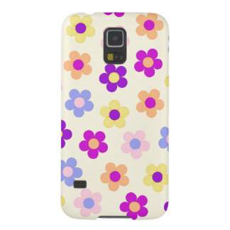 Flower Power Design – Yellow Background Case For Galaxy S5