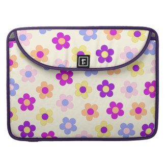 Flower Power Design – Yellow Background Sleeve For MacBook Pro