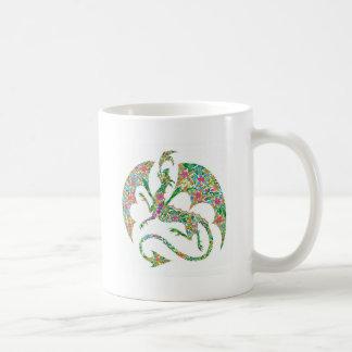 flower power dragon mug