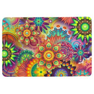 Flower power Floor Mat