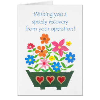 Flower Power Get Well Card - Surgery