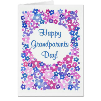 'Flower Power' Grandparents Day Greeting Card