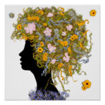 Flower Power hair Posters