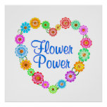 Flower Power Heart Posters