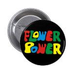 Flower Power Hippie Anstecknadelbutton