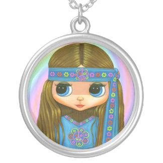Flower Power Hippie Doll Necklace