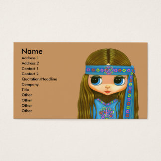 Flower Power Hippie Girl Business Card