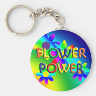 Flower Power Hippie Keychain