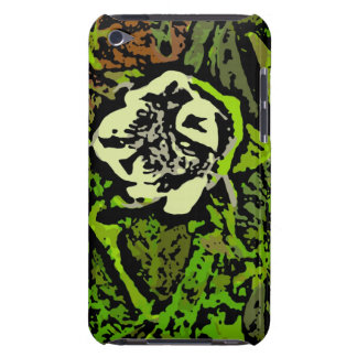 Flower Power in Green Barely There iPod Cases