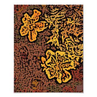 Flower Power in Orange and Yellow Art Photo