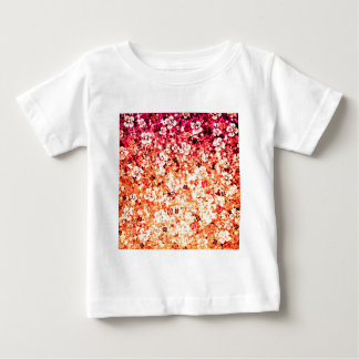 Flower Power in Orange, Floral Colorful Ombre Art T-shirts