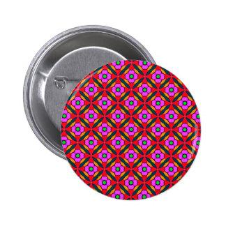 Flower Power in Pink Design 6 Cm Round Badge